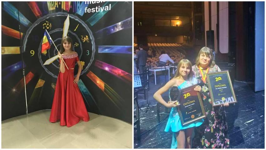 """Mădălina Lungu, eleva studioului artistic ,,Rodica Roșioru"""", câștigătoarea marelui premiu la un concurs de muzică din Macedonia!"""