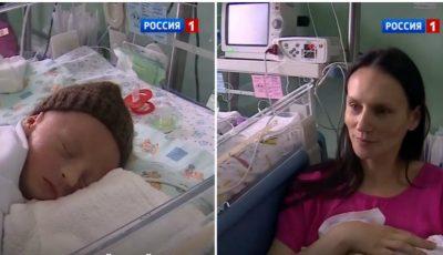 O femeie din Rusia a născut patru copii. Foto!