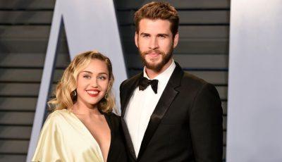 Miley Cyrus și Liam Hemsworth și-au spus adio, după opt luni de căsnicie