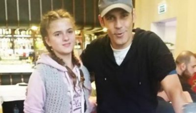Ștefan Bănică într-o poză cu Alexandra Măceșanu, tânăra răpită. Mesajul dureros al artistului