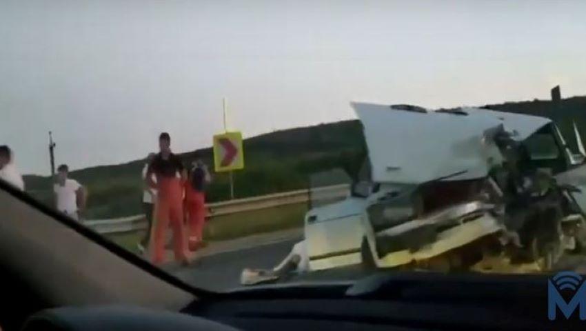 Foto: Accident cumplit la Peresecina. O persoană s-a stins pe loc