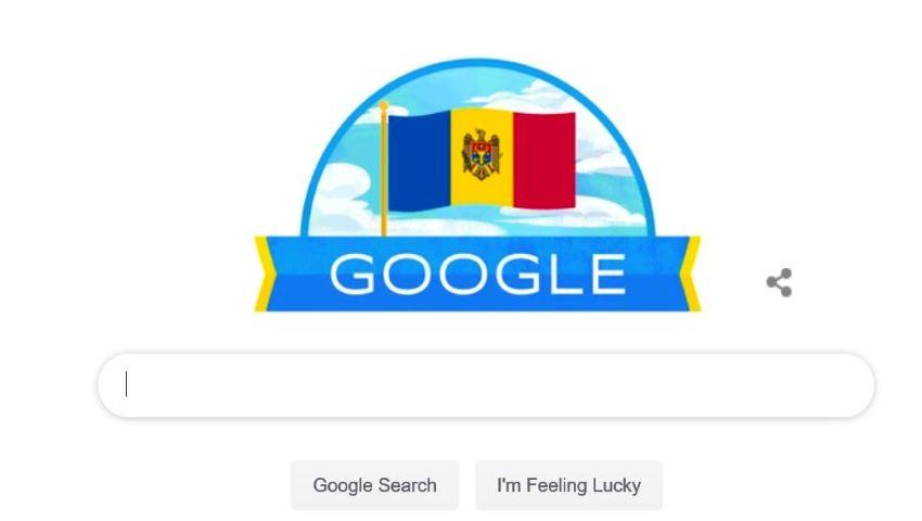 Foto: Google sărbătorește Ziua Independenței Republicii Moldova!