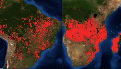 Și Africa arde! Imagini alarmante făcute publice de NASA