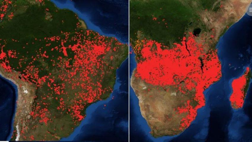 Foto: Și Africa arde! Imagini alarmante făcute publice de NASA