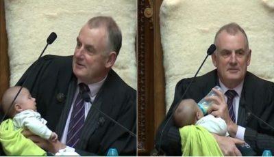 Președintele Parlamentului din Noua Zeelandă a hrănit un bebeluș în timpul ședinței