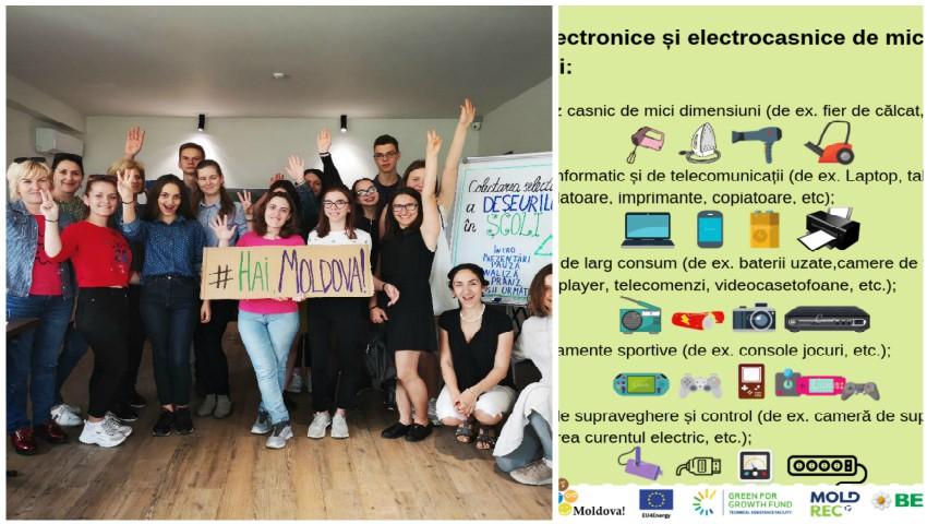 """Mobilizare generală la nivel național pentru colectarea și reciclarea deșeurilor electronice! Alătură-te inițiativei ,,Hai Moldova""""!"""
