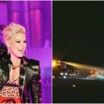 Foto: Avionul artistei Pink s-a prăbuşit în Danemarca. La bord se aflau 10 persoane
