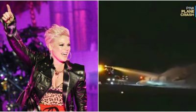 Avionul artistei Pink s-a prăbuşit în Danemarca. La bord se aflau 10 persoane