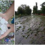 Foto: Grindina a făcut prăpăd în nordul țării. Foto