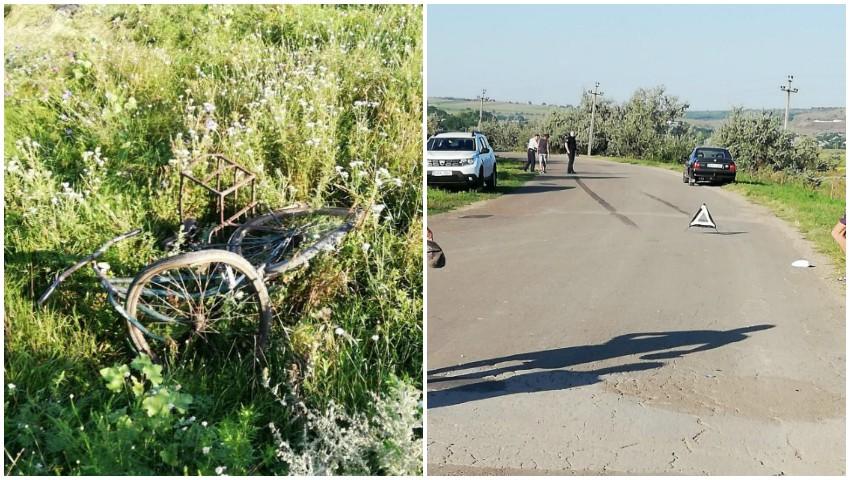 Foto: Un bărbat pe bicicletă a fost spulberat de un BMW, la Căușeni