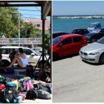 Foto: Vacanță cu peripeții. Sute de turiști, blocați de două zile pe o insulă grecească