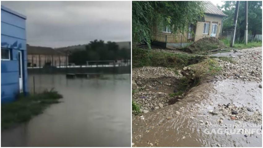 Foto: Ploile puternice au făcut prăpăd în sudul Moldovei. Foto