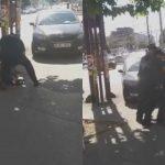 Foto: Un bărbat care vindea nuci în stradă, luat pe sus de polițiști. Riscă o amendă de până la 4.500 de lei