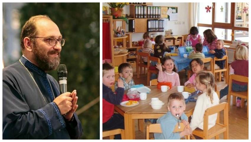 """Foto: Preotul Constantin Necula, despre rolul educatorilor și profesorilor: ,,Uneori nu contează atât de mult mama în perioada copilăriei, cât contează educatorul"""""""