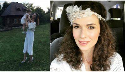 Stela Mikșanski și-a botezat fetița. Și a îmbrăcat rochia de mireasă, din nou!