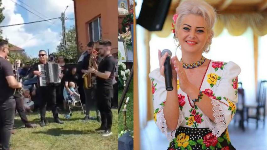 Artista Ana Maria Pop a fost condusă pe ultimul drum. Colegii au cântat muzică populară lângă sicriu