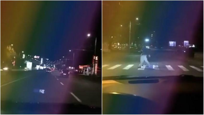 Foto: Video înspăimântător. O șoferiță din Chișinău conducea pe viaduct cu 156 km/h și făcea live pe facebook