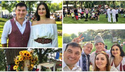 Costi Burlacu și Corina Țepeș sărbătoresc alături de moldovenii din Chicago! Foto