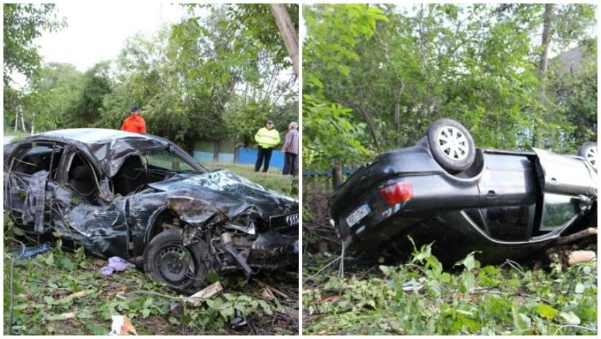 Foto: Accident teribil în nordul țării: un tânăr de 21 de ani s-a stins pe loc, alți patru au ajuns la spital