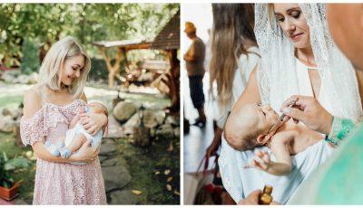 Gloria Gorceag a publicat imagini adorabile de la botezul lui Leo!