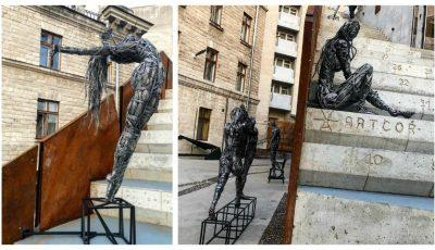Ce să admiri în weekend? Sculpturi deosebite realizate de Dmitri Demidov, în curtea centrului Artcor!