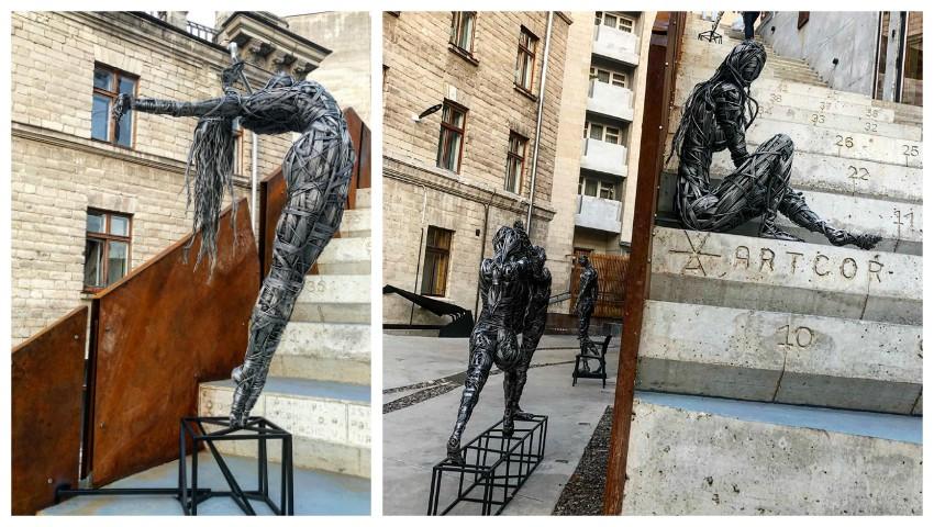 Foto: Ce să admiri în weekend? Sculpturi deosebite realizate de Dmitri Demidov, în curtea centrului Artcor!