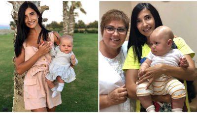 Inesa Voscoboinic i-a pus fetiței sale primii cerceluși!