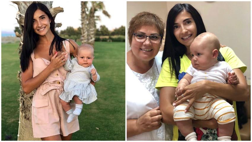 Foto: Inesa Voscoboinic i-a pus fetiței sale primii cerceluși!