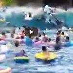 Foto: Clipe de groază: 44 de oameni au ajuns la spital, după ce într-o piscină s-a format un tsunami uriaș