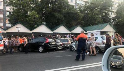 Accident în lanț în sectorul Ciocana: cinci mașini au fost avariate
