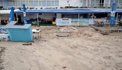 Plajele din regiunea Odessa, distruse după ploaia de ieri. Foto