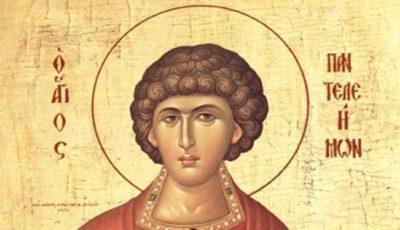 Creştinii ortodocşi de stil vechi îl cinstesc astăzi pe Sfântul Mare Mucenic Pantelimon
