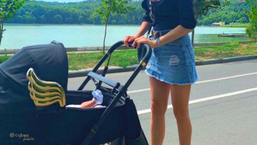 Foto: Un model de la noi, în fustă mini la doar câteva zile după naștere