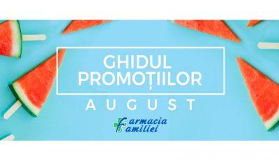 Descoperă ghidul promoțiilor pentru luna august de la Farmacia Familiei! Bucură-te de cele mai bune produse pentru îngrijirea pielii și tenului, dar și multe alte oferte!