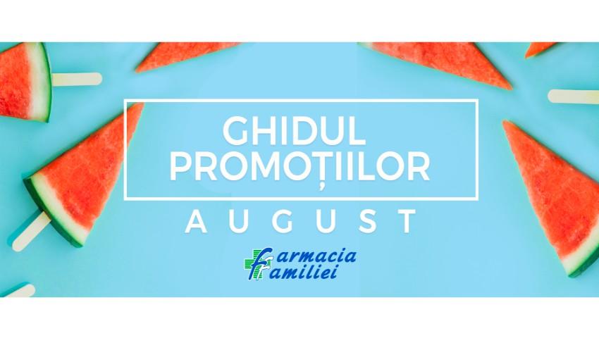 Foto: Descoperă ghidul promoțiilor pentru luna august de la Farmacia Familiei! Bucură-te de cele mai bune produse pentru îngrijirea pielii și tenului, dar și multe alte oferte!