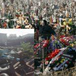 Foto: Cruci furate de pe morminte, găsite la depozitul de fier de lângă cimitirul Doina. Revoltător!