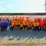 Foto: Cel mai mare tricolor, pictat de 100 de copii de pe ambele maluri ale Prutului! Foto