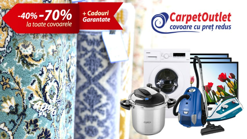 Foto: Reduceri de la – 40% până la -70% la toate covoarele, cadouri garantate și tombolă cu premii – le găsești pe toate la CarpetOutlet!