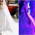 Foto: O interpretă din Moldova, în rochie în stil libanez de mii de euro la nuntă. Ținuta a cântărit 20 de kg