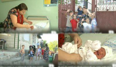 La 35 de ani, a devenit mămică pentru a 11-a oară! Povestea a doi soți din raionul Hâncești