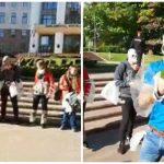 """Foto: """"Mă sufoc de la kuliok"""", flashmob în centrul Capitalei!"""