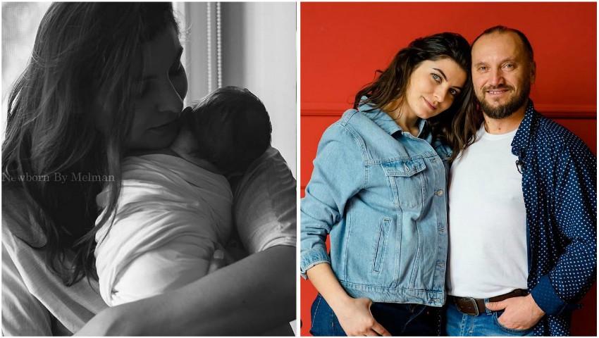Foto: Olesea Sveclă, în prima ședință foto alături de fiul ei nou-născut!