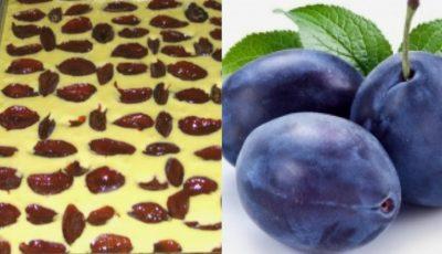 Rețetă de plăcintă cu prune, rapidă și ușor de pregătit