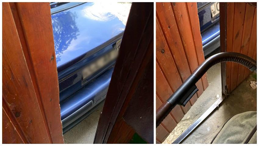 Foto: Un moldovean a parcat mașina chiar lângă ușa unui bloc de locuit