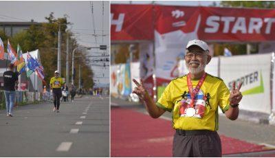 Un japonez în vârstă de 73 de ani a alergat 42 de km la Maratonul Internațional Chișinău. A alergat până acum la 340 de maratoane, în 75 de țări ale lumii