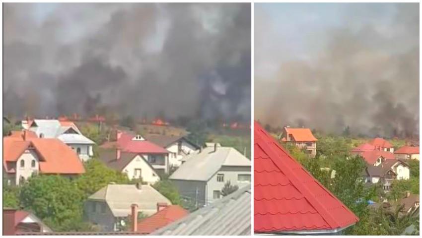 Foto: Video. Incendii imense în Chișinău. Un fum dens a acoperit capitala