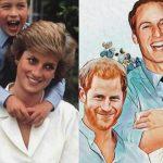 Foto: O pictură inedită cu Prințesa Diana adună mii de aprecieri în mediul virtual