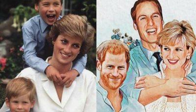O pictură inedită cu Prințesa Diana adună mii de aprecieri în mediul virtual