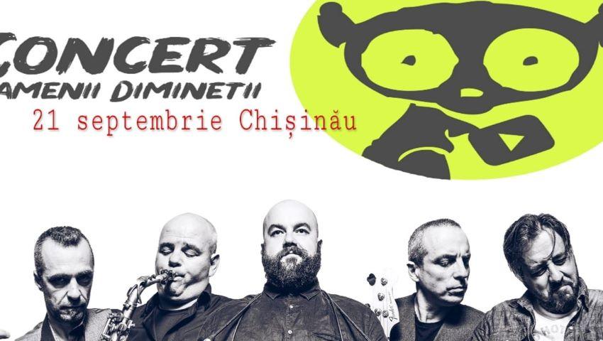"""Trupa de rock ardelenesc ,,Oamenii Dimineții"""" vă invită la un concert pe pietonala din Chișinău!"""