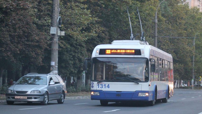 Foto: Ruta de troleibuz nr. 22 își schimbă traseul de circulație